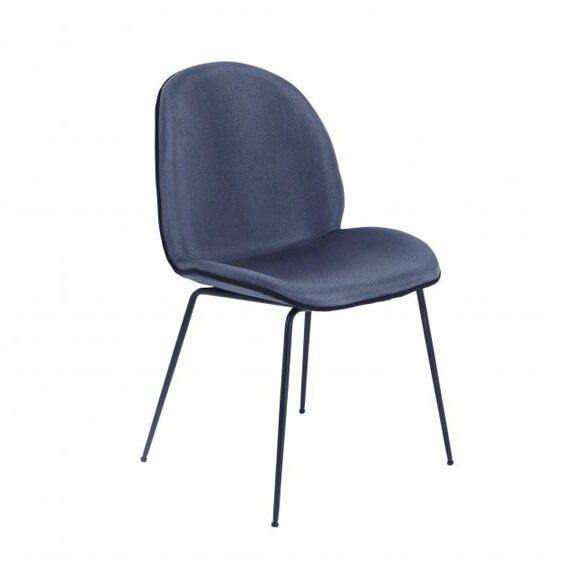 chaise dossier confortable design foncé