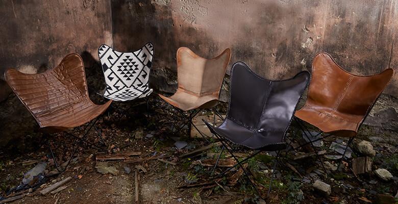 fauteuils butterfly cuir