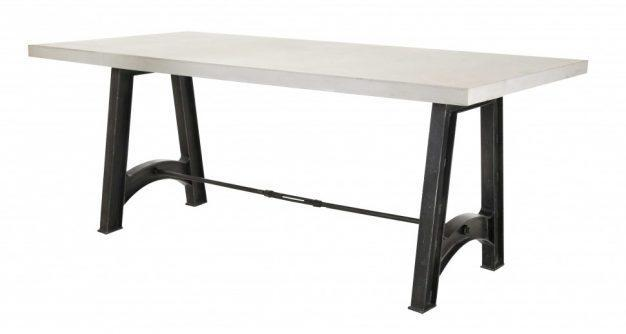 table blanche pieds noirs