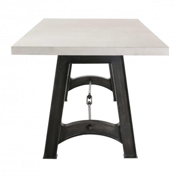 table blanche graph pieds métal