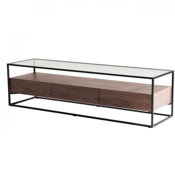 meuble TV verre transparent Helix