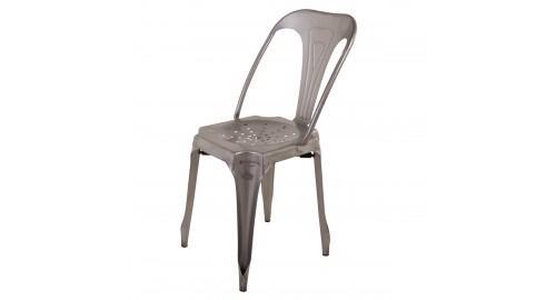 chaise industrielle grise dossier vintage