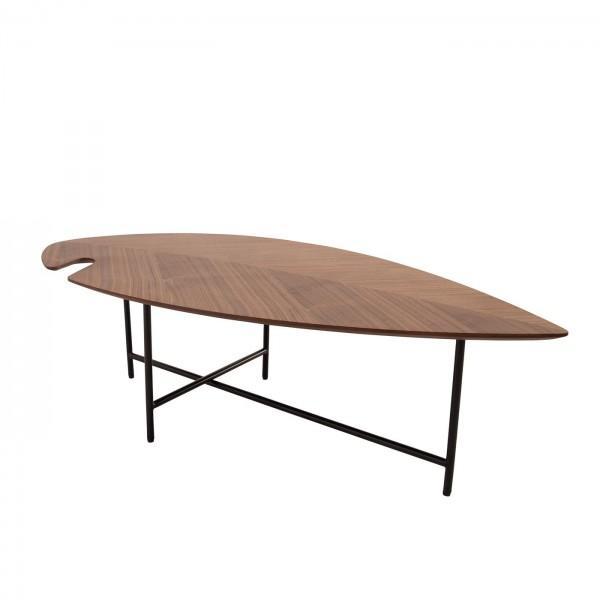 table basse leaf noyer vintage