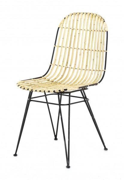 chaise dossier design naturel métal