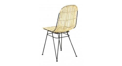 chaise confortable rotin élégante crème