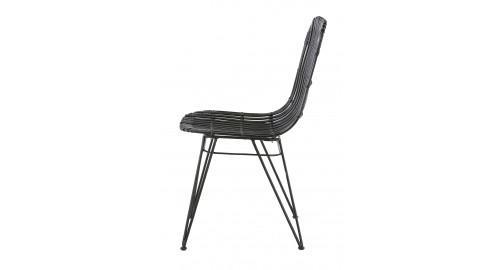 chaise rotin naturel noir mate