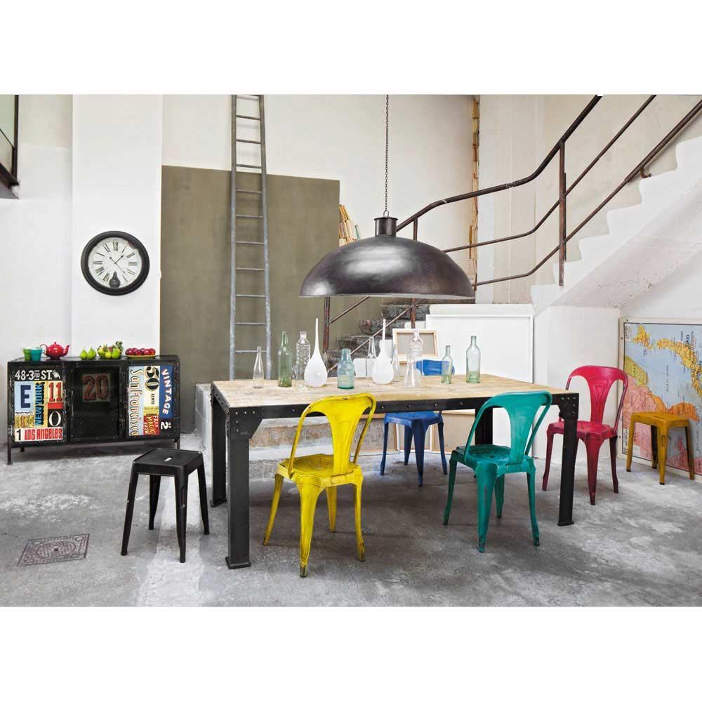 chaise en métal style industriel couleurs