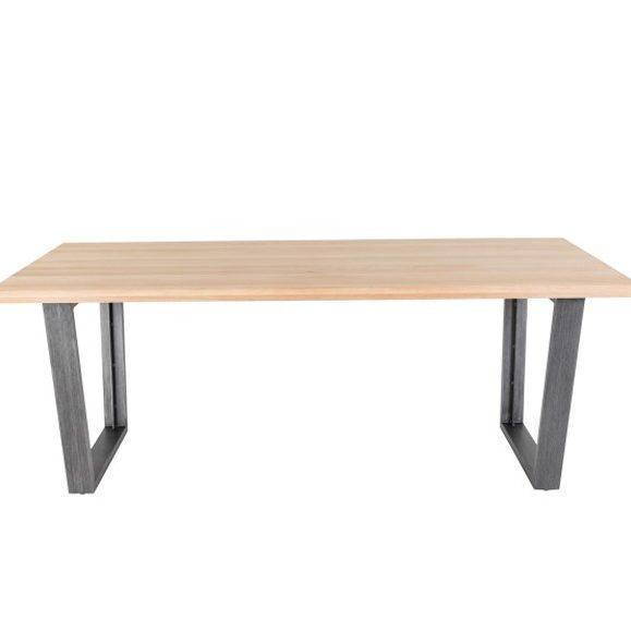 table new tr chêne et métal