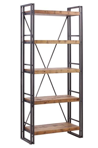 étagère industrielle plateaux bois