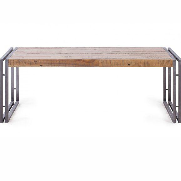 table ome métal et bois