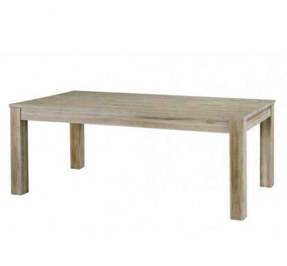 table teck grisé simple