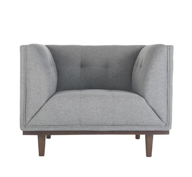 fauteuil perla gris clair
