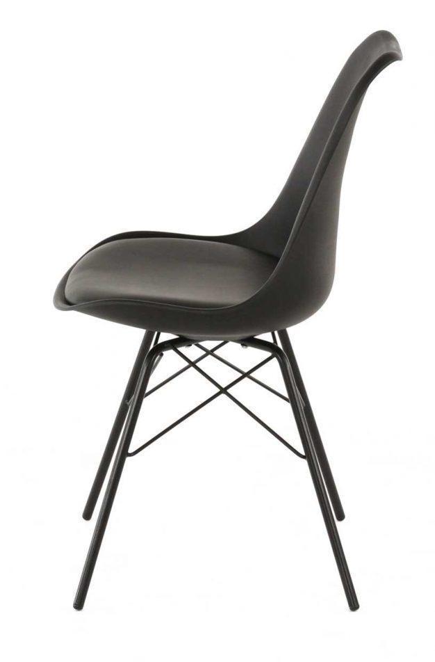 chaise rembourrée noir mate design