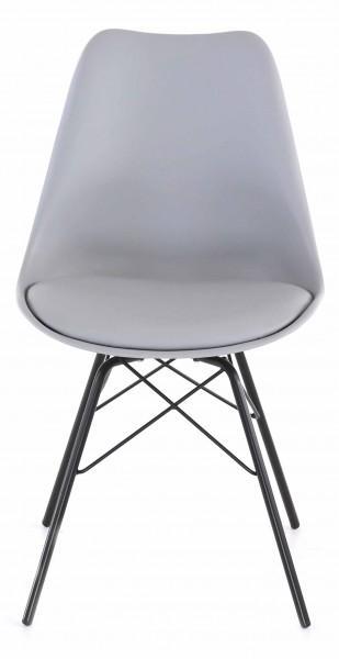 chaise design gris clair élégante