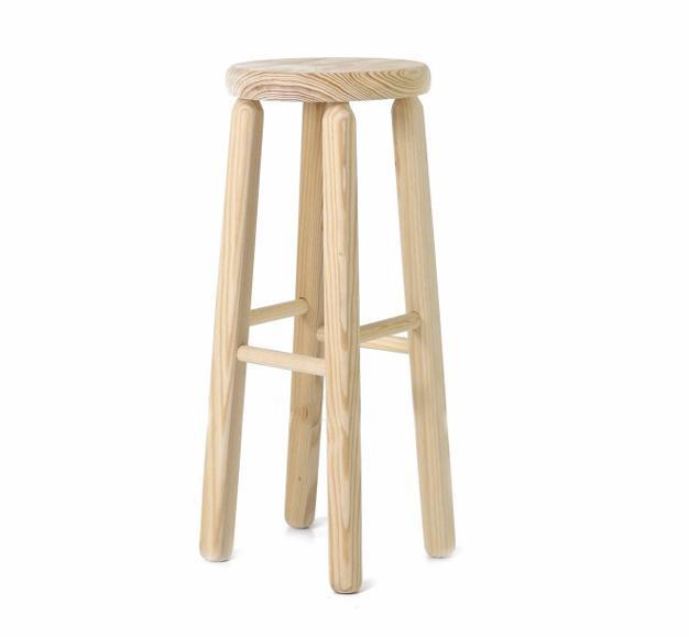 tabouret bar haut bois robuste