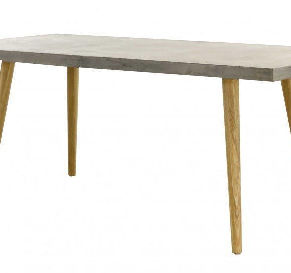 table en bêton gris et chêne style scandinave