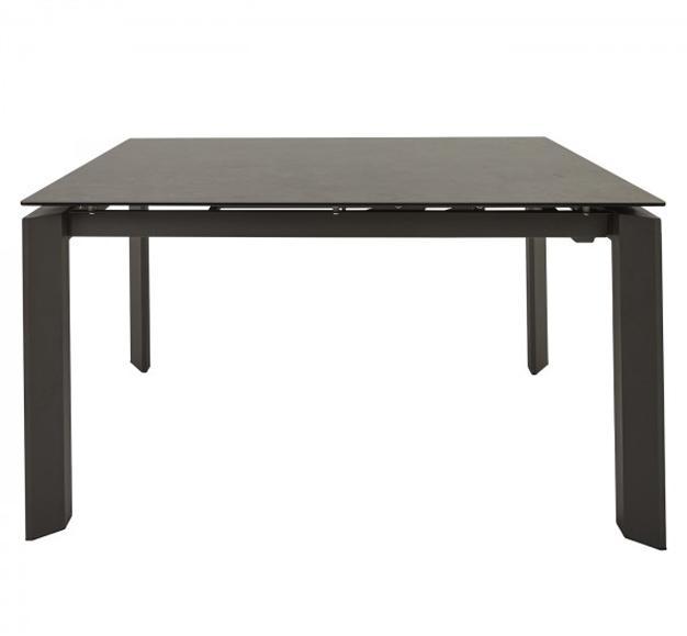 table carré céramique noir design