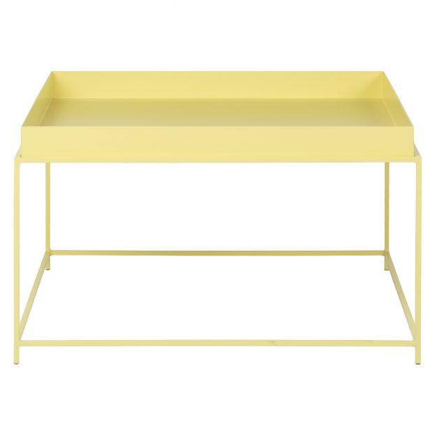 table jaune pastel design