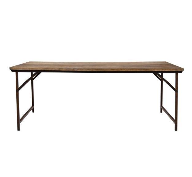 Métal Industrielle Et Pliante Table Bois En 2m Vieilli FlT1KcJ