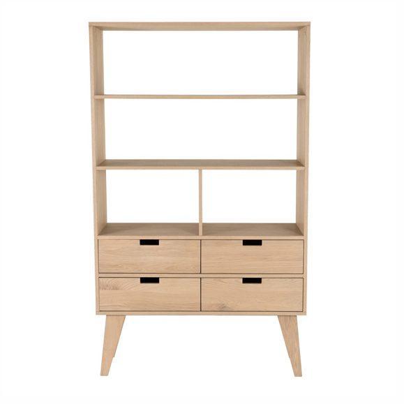 meuble trois étagères quatre tiroirs