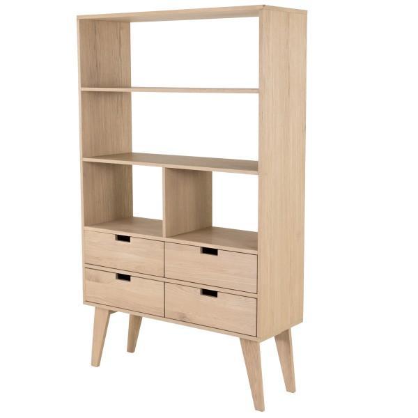 étagère design bois clair