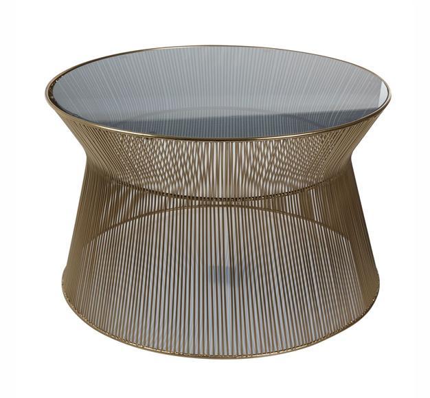 table design chic verre laiton