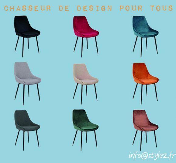 fauteuils velours couleurs élégants modernes