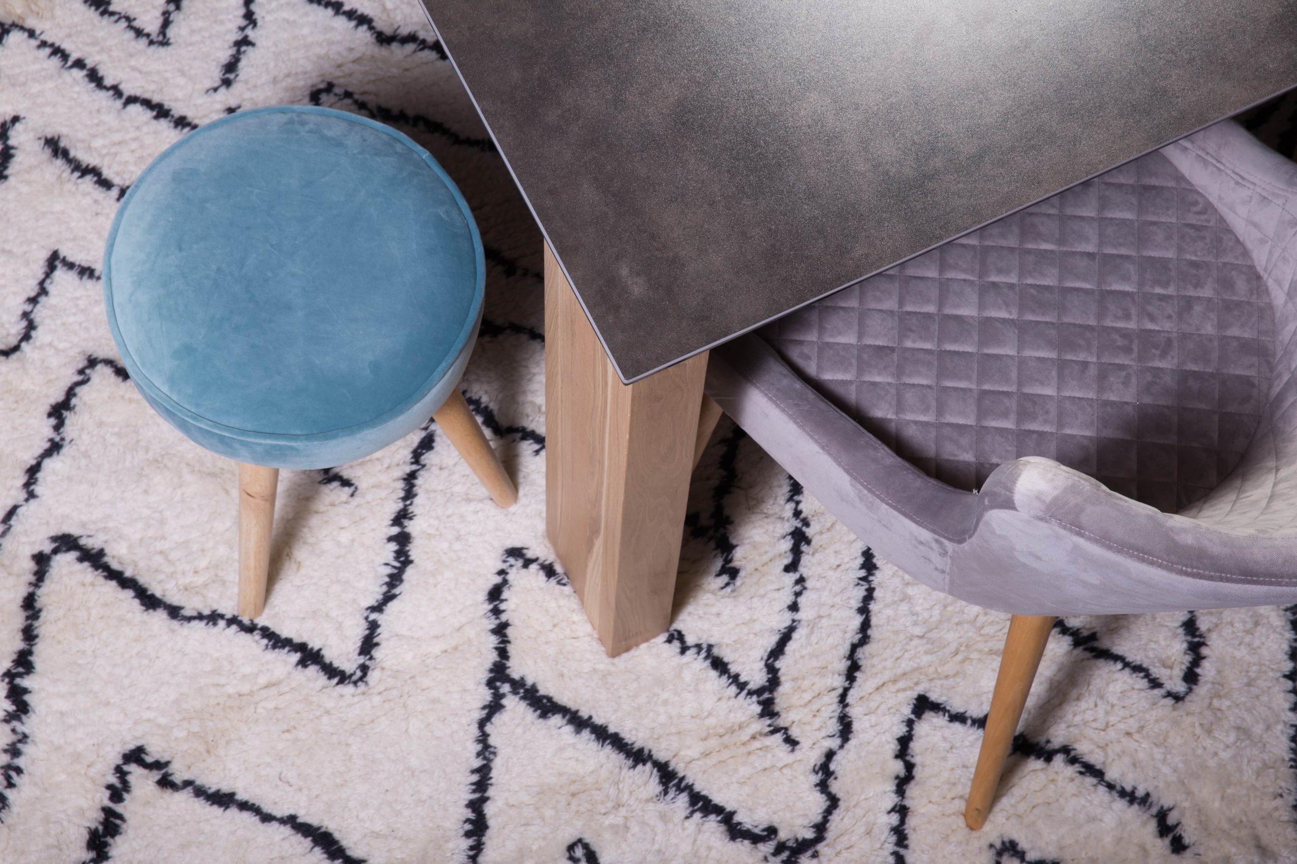 fauteuil chaise matelassé design gris