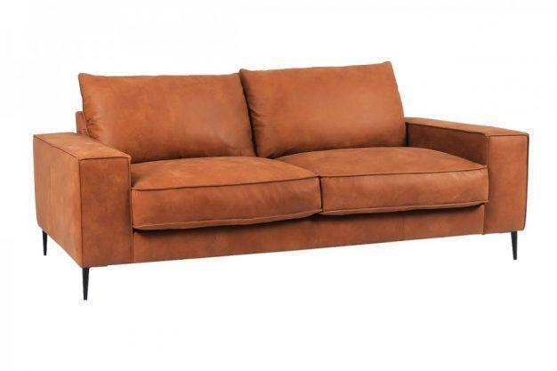 canapé large cuir marron design