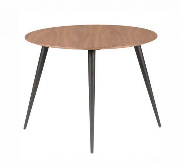 table bois scandinave circulaire élégante