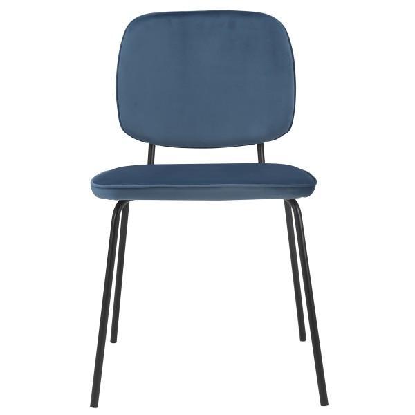 chaise bleue type écolier velours