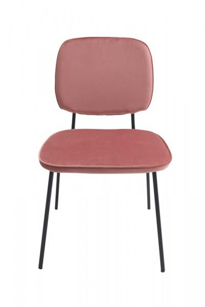 chaise velours écoliers moderne rose