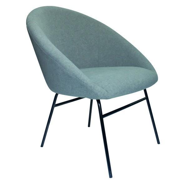 fauteuil velours bleu ciel design