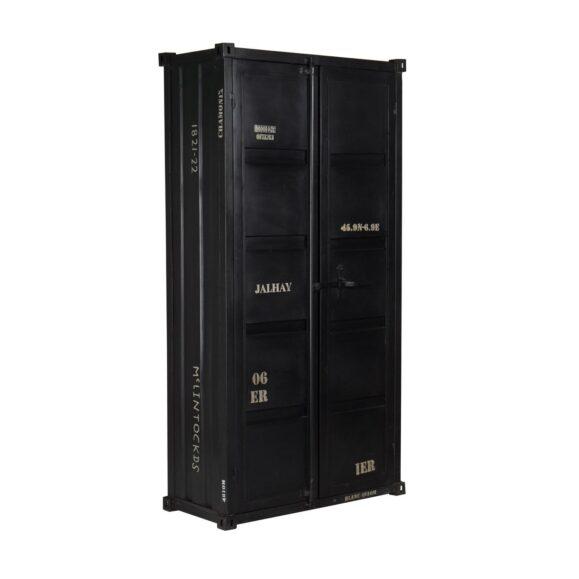 armoire élégante vintage noire