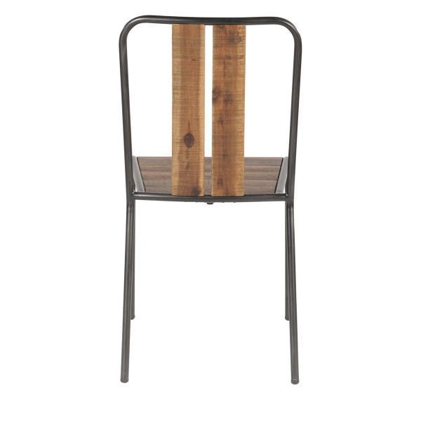 chaise écolier bois acier vintage