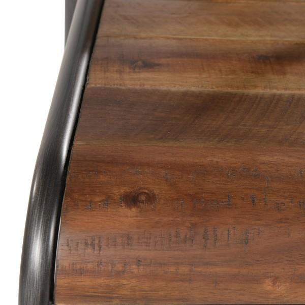 chaise armature acier assise bois