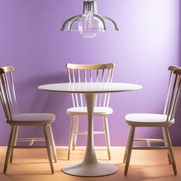 chaise scandinave bois naturel dégradé