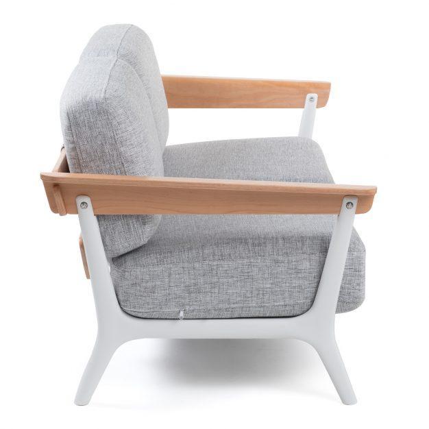 canapé design scandinave gris clair