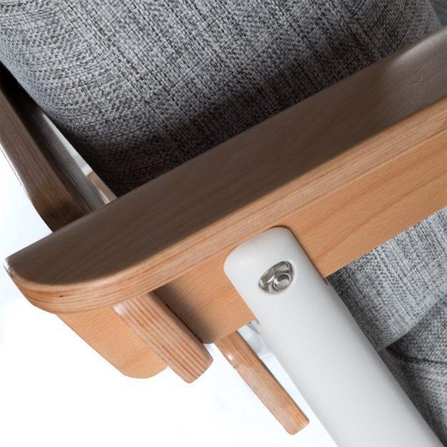 canapé clair nordique bois tissu