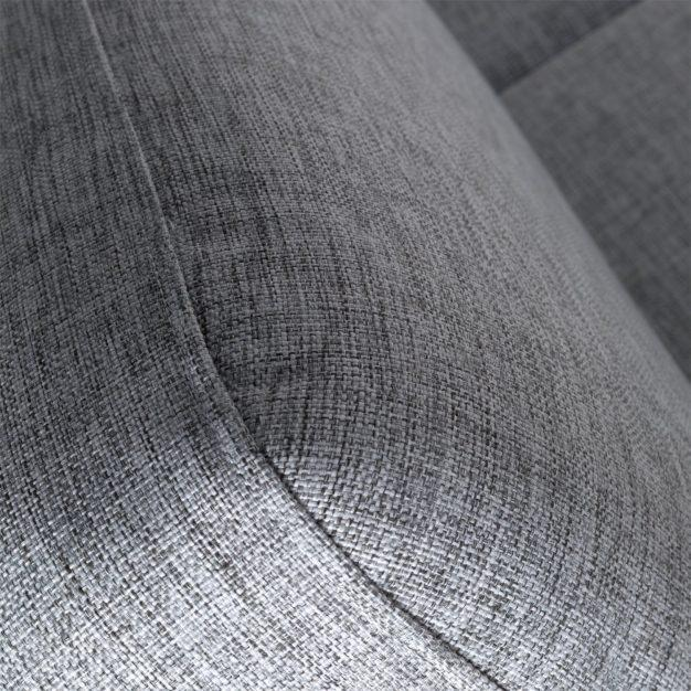 canapé tissu gris clair scandinave