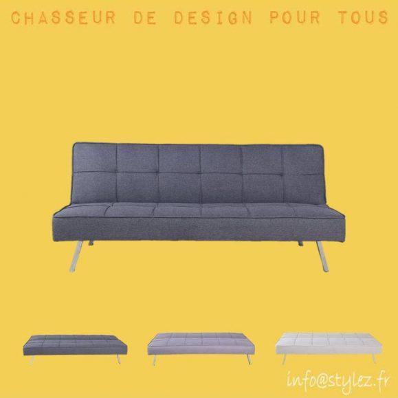 canapé lit moderne piqué tissu