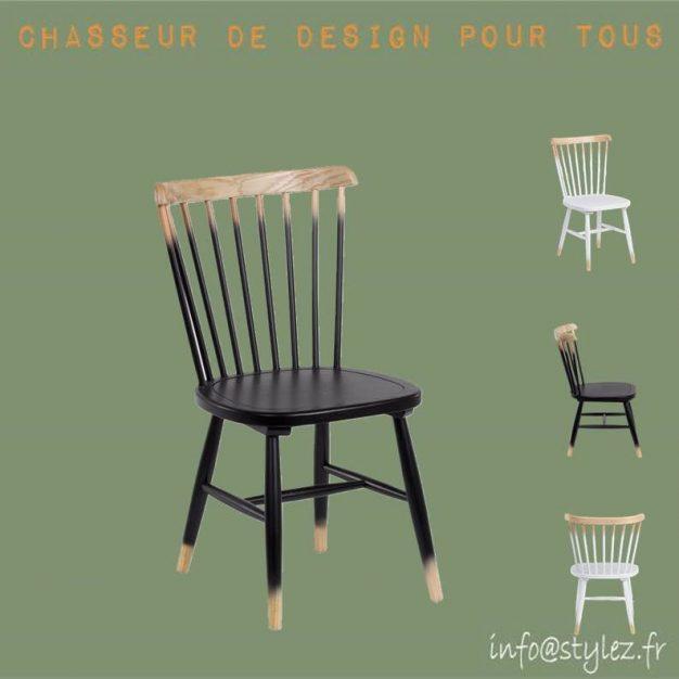 chaise design bois dégradé foncé