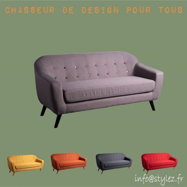 canapé simple scandinave gris couleurs