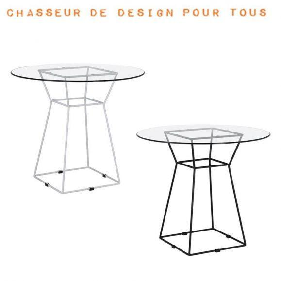 table design plateau verre chic