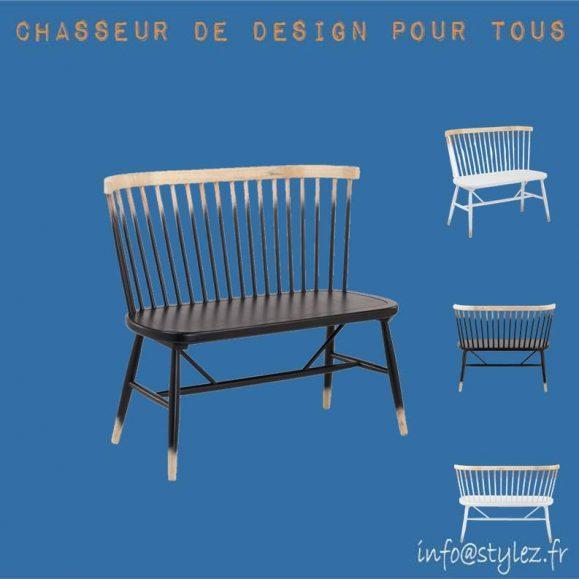 banc original design bois dégradé