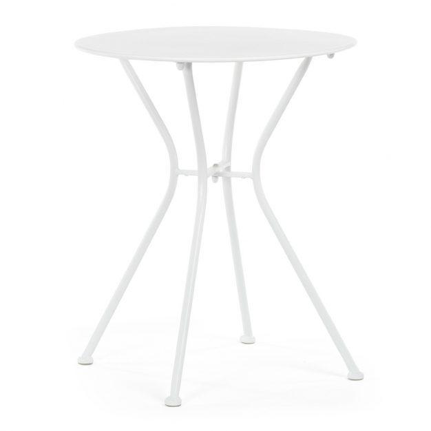 table légère contemporaine blanche métal