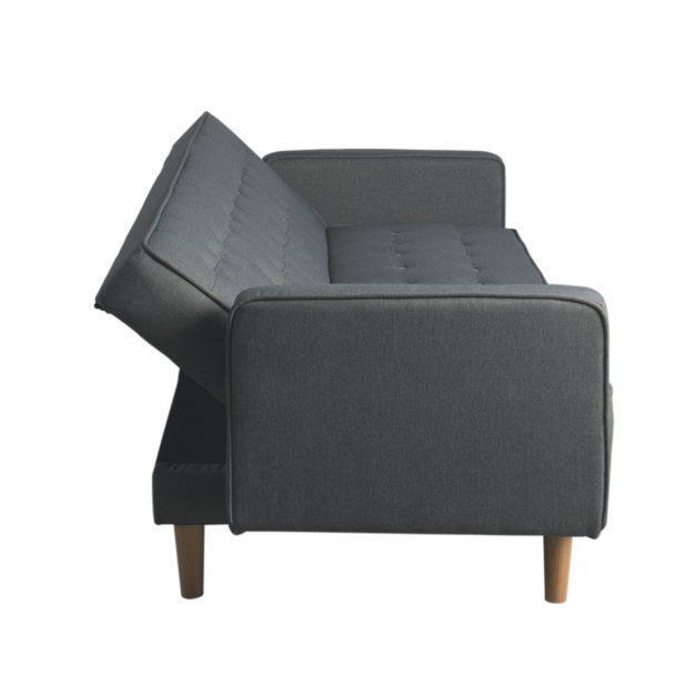canapé transformable gris foncé nordique