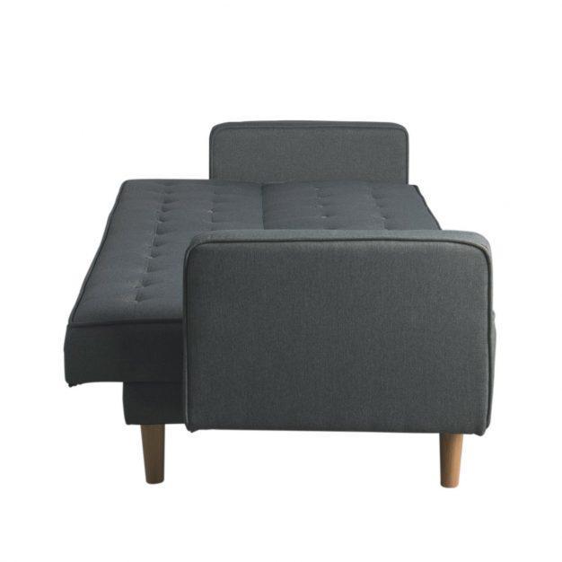 canapé modifiable nordique capitonné bois
