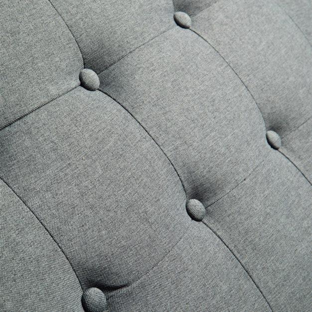 canapé transformable vintage élégant gris