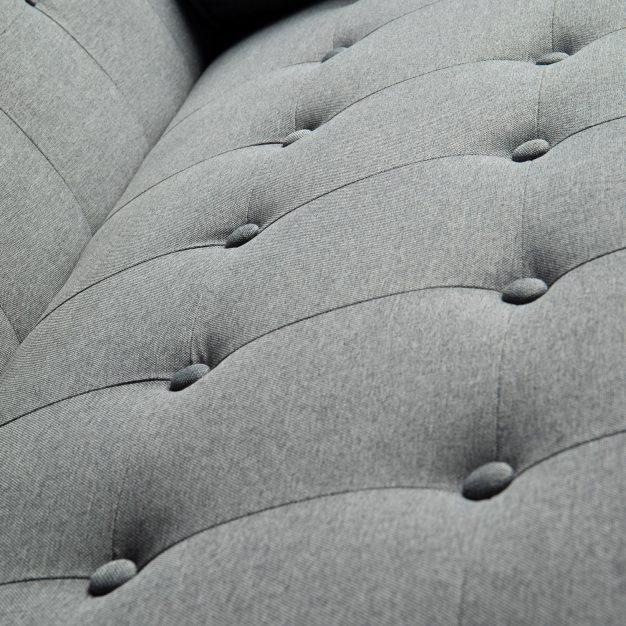 canapé modifiable gris foncé bois